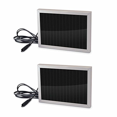 Stealth Cam 12-Volt Battery Charger Solar Panel Game Camera Accessory (2 Pack)