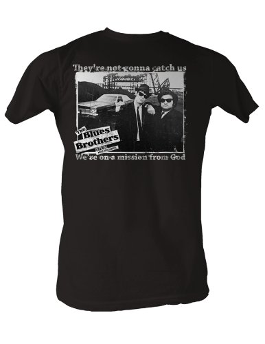 903b50ea This Blues Brothers T-shirt features Jake and Elwood with a saying that  reads