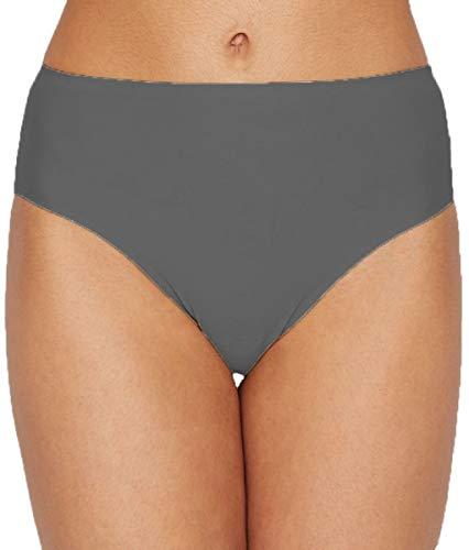 - TC Fine Intimates Matte Microfiber Modern Hi-Cut Brief Panty (Large, Quiet Shade)