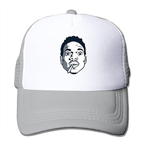 [ACMIRAN Chance The Rapper Funny Mesh Hat One Size Ash] (Buffalo Bob Costume)