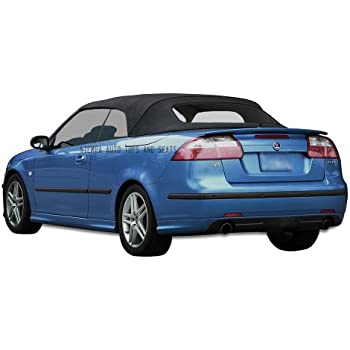 Sierra Auto Tops SAAB 2004-2009 9-3 Convertible Convertible Top, Ger A5 Canvas, Black