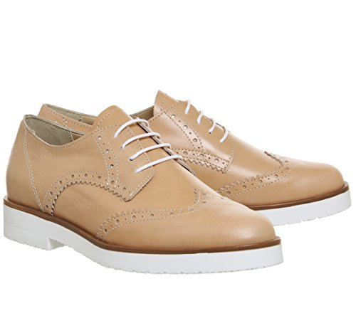 Lace Fudge Brogues Nude Office Up Leather aTqzUv