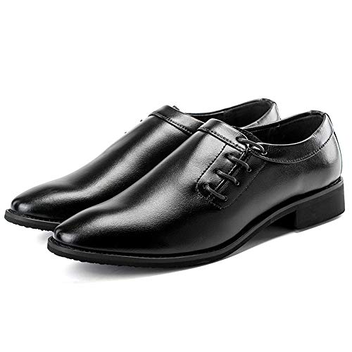 Scarpe a classiche pelle di shoes casual Nero in Pelle EU Scarpe Marrone punta da Business morbida Oxford Color Xiaojuan uomo Uomo 42 Dimensione q5xfw75X