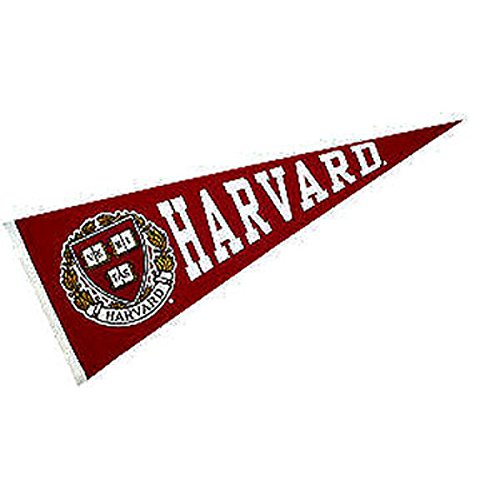 Harvard Crimson Pennant and 12