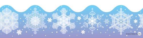 Carson Dellosa Snowflakes Borders (1225)