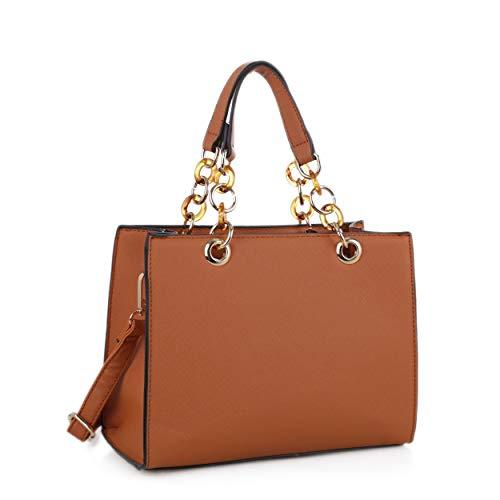 SG SUGU Designer Mini Satchel Top Handle Handbag Structured Crossbody for Women | Tan