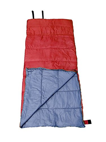 GigaTent Red Camping Sleeping Bag Ultra Soft and Light, Weatherproof, Flame Resistant 35 Degree 3 Season Insulation and Heat Retention 33 x 75 Reversible Bag Doubles as Comforter