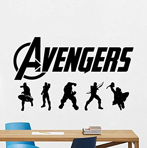 Captain America Cheap Ship - Avengers Wall Decal Comics Superhero Vinyl Sticker Captain America Hulk Hawkeye Iron Man Thor Wall Art Design Housewares Kids Room Bedroom Decor Removable Wall Mural 55RT