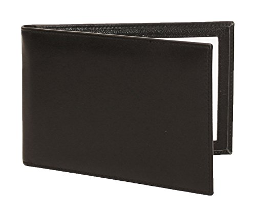 Karandu Double 4x6 Landscape Leather Picture Frame - Black