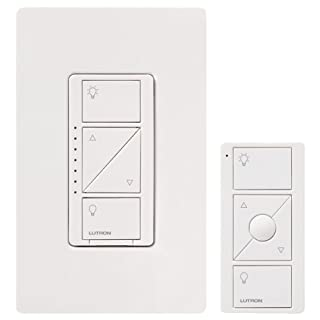 Lutron Caseta Wireless Smart Lighting Dimmer Switch and Remote Kit for Wall & Ceiling Lights, P-PKG1W-WH-C, White, Works with Alexa (B00MFM9ETO) | Amazon Products