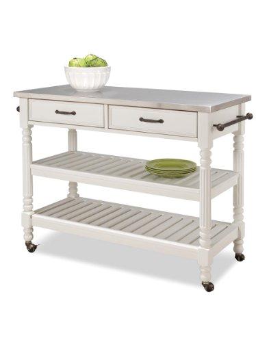 Home Styles 5219-95 Savanna Kitchen Cart, White Finish (Savannah Kitchen)
