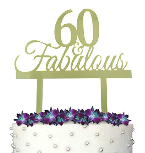 60th Ideas Birthday Decorating GrantParty 60 And Fabulous Cake Topper With Protective Film