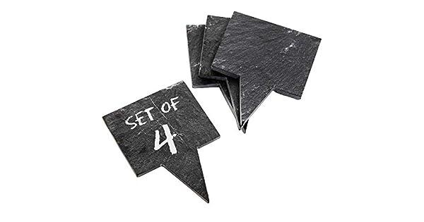 Amazon.com: Juego de 4 minicarteles de pizarra negros para ...