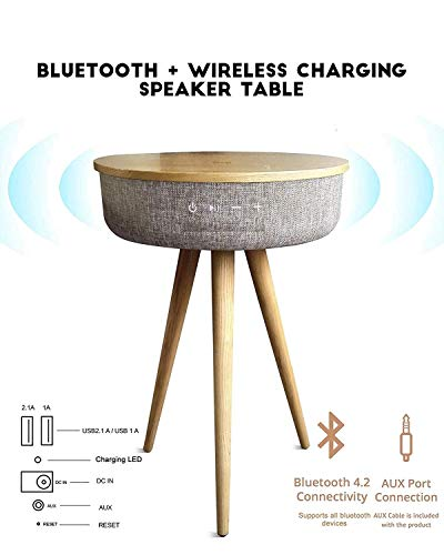 (Ultimate NOA Sound Box V800W Smart Table With Bluetooth Speaker Wireless Charging Table 6 Speaker 360° Sound)