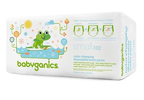 Babyganics Color Changing Disposable Swim Diaper (small, Color Changing in sunlight)