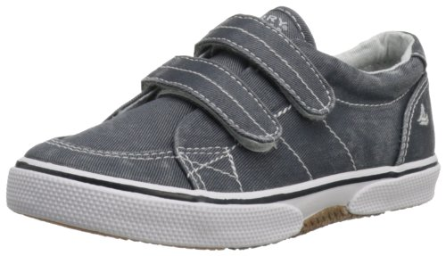 Sperry Toddler Top (Sperry Halyard Hook & Loop Boat Shoe (Toddler/Little Kid),Navy Saltwash Canvas,10 M US Toddler)
