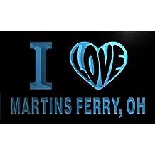 v63324-b I Love MARTINS FERRY, OH OHIO City Limit Neon Light Sign