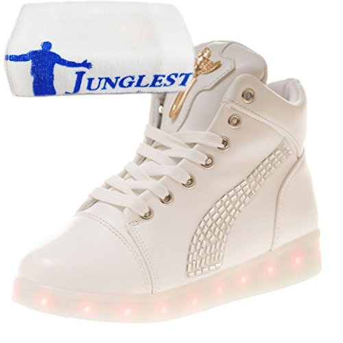 [Present:small towel]JUNGLEST 7 Colors Led Trainers High Top Light Up White ENJhRpK0