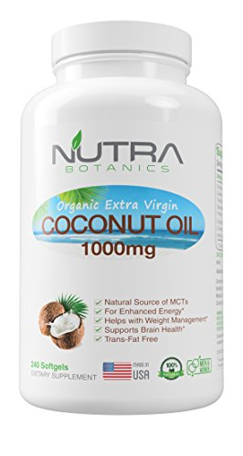 Nutra Oil - Nutra Botanics Coconut Oil Capsules Softgels 240 Count