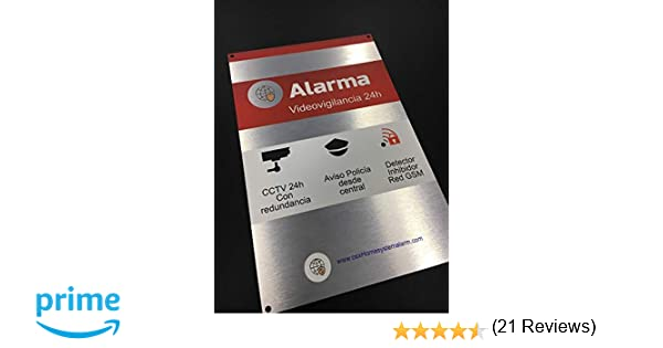 Cartel alarma videovigilancia exterior de ALUMINIO de alta CALIDAD disuasorio
