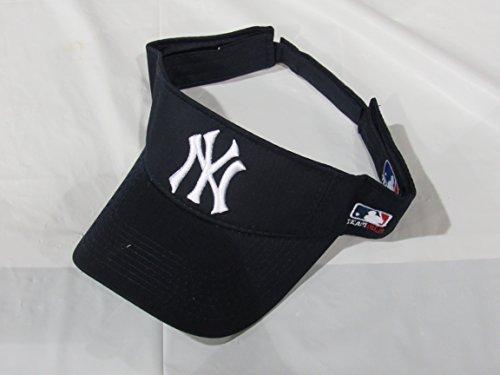 MLB ADULT New York YANKEES Home NAVY BLUE VISOR Adjustable Velcro TWILL New