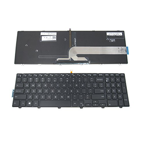 LeFix Replacement Backlit Keyboard (With Frame) for Dell Inspiron 15 3000 5000 3541 3542 3543 5542 5545 5547 Series 15-5547 15-5000 15-5545 17-5000