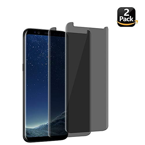 LEDitBe Samsung Galaxy S8 Screen Protector Privacy Anti-Spy,[3D Curved][Easy to Install][Anti-Scratch][No Bubble][9H Hardness] Privacy Anti-Peep Tempered Glass Screen Protector Galaxy S8