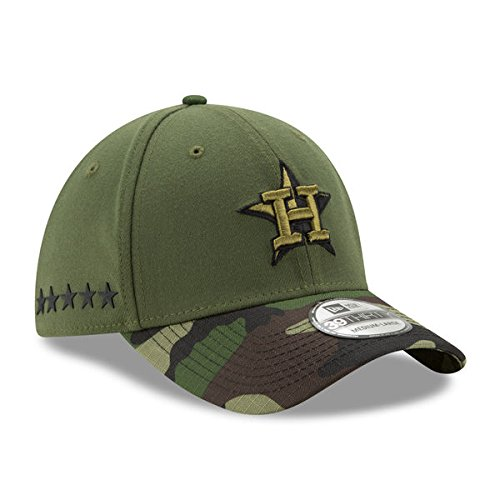 Houston Astros New Era 2017 Memorial Day 39thirty Flex Hat – Green / Camo B072F4VNNZ   XL