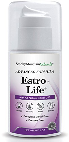 (Paraben-Free) Natural Estro-life Cream | 100 mg of USP Micronized, BioIdentical Estriol- 2 Ounce Pump. Used During All Stages of Menopause. Free of Soy, GMOs, Fragrance, Parabens and Propylene Glycol by Smoky Mountain Naturals