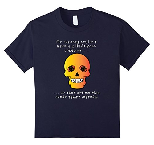 Kids Could Not Afford Halloween Costume Novelty T-shirt Gift 12 Navy