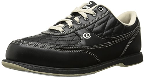 Dexter Turbo II Wide Width Bowling Shoes, Black/Khaki, 9.5