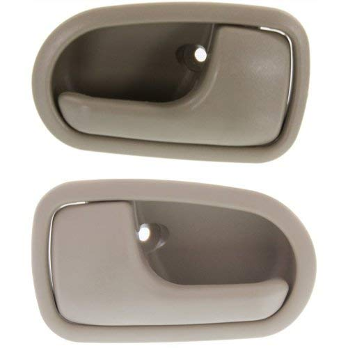 Interior Door Handle Compatible with MAZDA 626 1993-1997 / Protege 1995-2003 Front and Rear Door Handle Right Side and Left Side Set of 4 Inside Beige Plastic