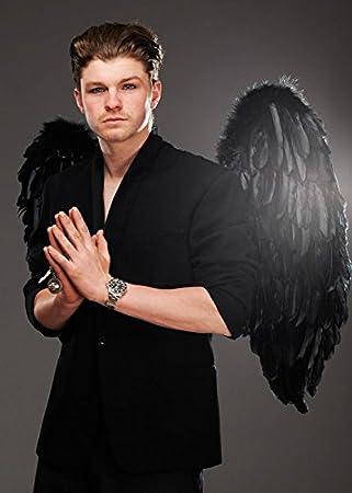 Magic Box Alas Grandes del ángel gótico Negro de la Pluma para ...