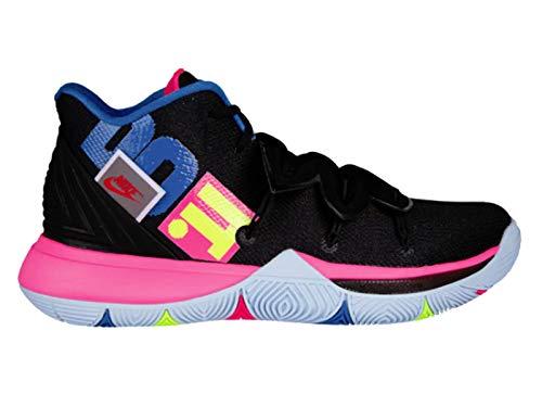 Nike Mens Kyrie 5 Black/Volt/Hyper Pink Leather Basketball Shoes 11.5 M US (Men Nike Basketball Shoes Hyper)