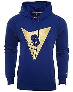 Po 7 Hombre Blue deep Hoodie Fleece Aj Nike Royal Azul Sudadera fTUxTPq