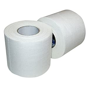 """Ringside Athletic Sport Trainers Boxing Muay Thai Kickboxing Extra Strong Cotton Tape 2"""" (White, 10 Rolls)"""