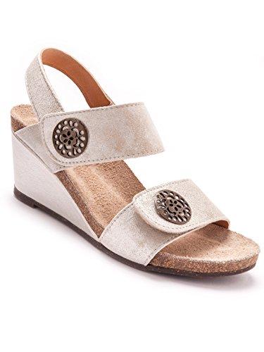 Balsamik - Sandalias de vestir para mujer Grey light metallized