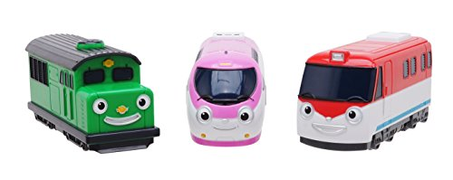 (Tayo the Little Bus 120 Titipo and Friends, Pull-Back Toy Train 3pcs Set)