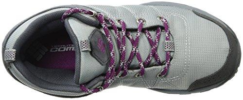 Columbia Women's Fire Venture Mid Textile Hiking Boot, Earl Grey, Dark Raspberry, 11 Regular US by Columbia (Image #6)