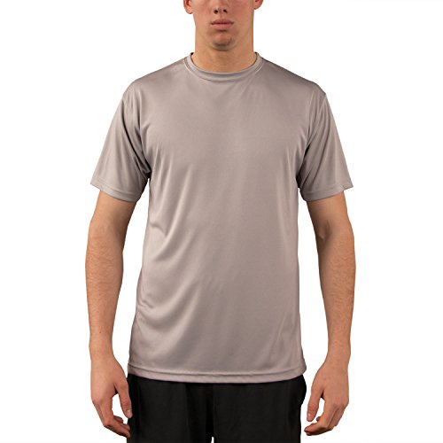 Vapor Apparel Men's UPF 50+ UV Sun Protection Performance Short Sleeve T-Shirt XX-Large Athletic Grey - Layer Tech Compression Shirt