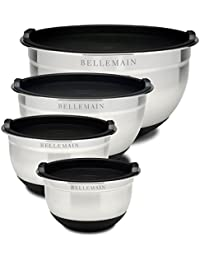 Investment Top Rated Bellemain Stainless Steel Non-Slip Mixing Bowls with Lids, 4 Piece Set Includes 1 Qt., 1.5 Qt., 3 Qt... dispense