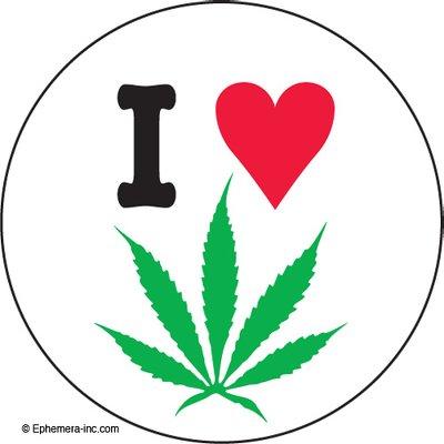 I (heart) (pot leaf). by Ephemera, Inc (Image #1)