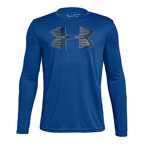 Under Armour Boys' Tech Big Logo Long sleeve Shirts, Royal (400)/Graphite, Youth Medium