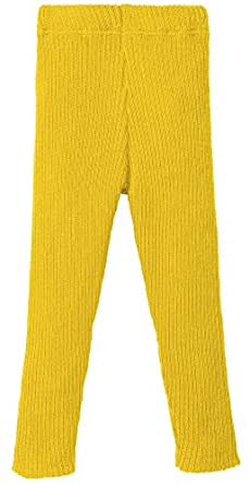 Disana 100% Organic Merino Wool Knitted Leggings Made in Germany (134/140 (9-10 Years), Curry)