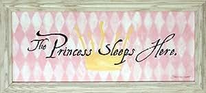 Princess Sleeps Here Girls Room Framed Art Print Picture Wall D?cor by Framed Art by Tilliams