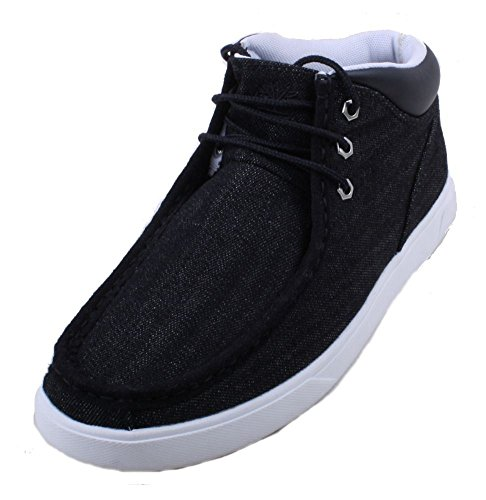 Fusion Moc Toe (Timberland Men's Groveton Moc Toe Fabric Chukka Boot, Black Denim, 11 M)