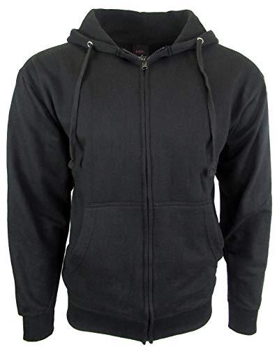 Licensed-Mart Originals Unisex Basic Zip Up Hoodie Sweatshirt 4010 Black 3XL