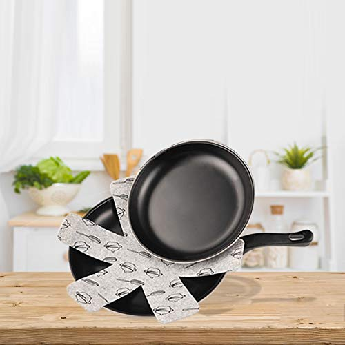 Hausure 12PCS Pan and Pot Protectors Cookware Protectors Set Large Thick Pots and Pans Dividers to Avoid Scratching and Chipping