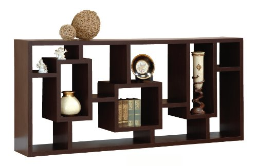 Enitial Lab Mateo Open Back Bookcase, Espresso: Amazon.co.uk: Kitchen u0026 Home