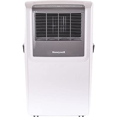 Honeywell MP10CESWW 10000 BTU Portable Air Conditioner with Front Grille and Remote Control, White/Grey